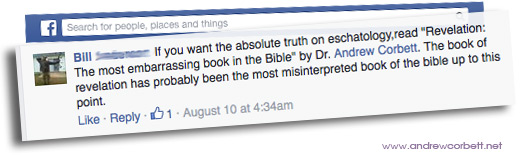 A recent unsolicited Facebook commendation
