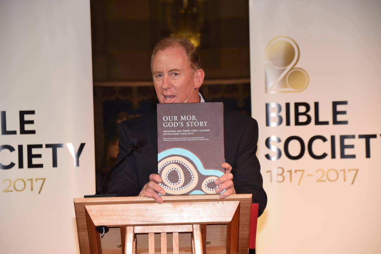 Dr. Andrew Corbett hosting the Bible Society's 200th anniversary