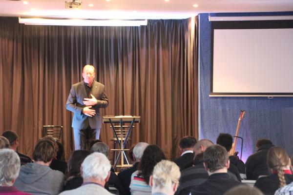 Dr Andrew Corbett preaching