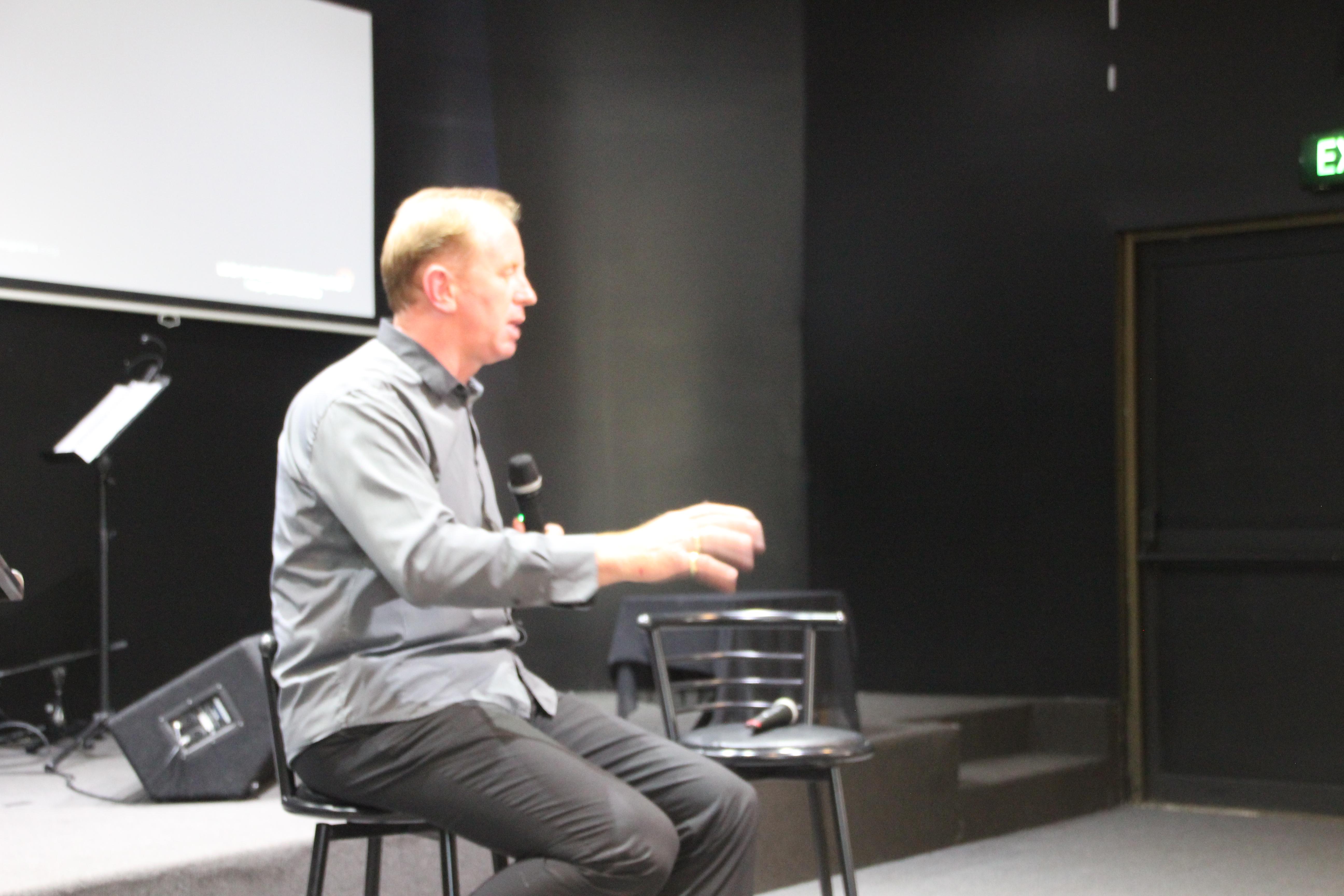 Andrew Corbett interviewing