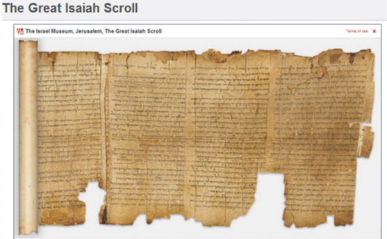 THE GREAT ISAIAH SCROLL, part of the Dead Sea Scrolls discovery.