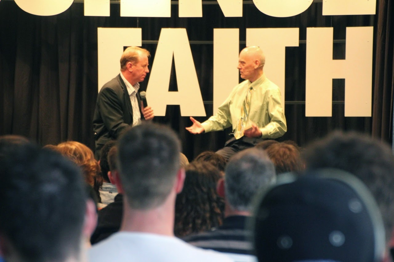 Dr. Andrew Corbett with Dr. Hugh Ross (RTB Founder and President)
