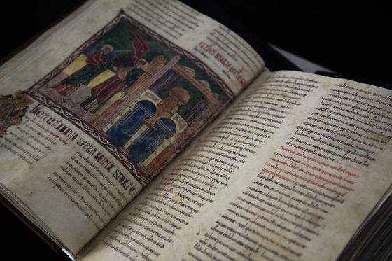 An exact copy of Beatus of Liébana's 460 page commentary on Revelation originally copied in 970AD.