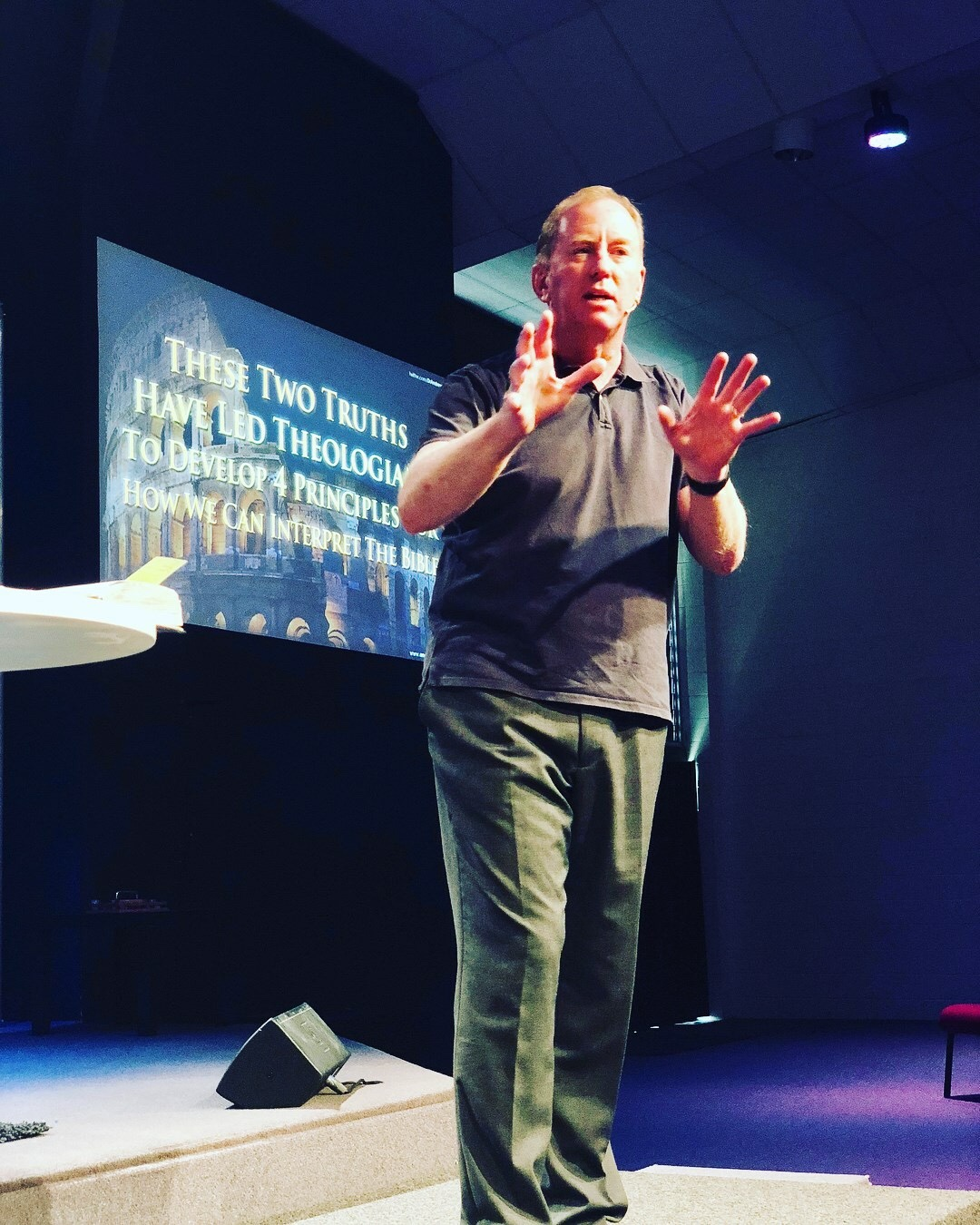 Dr. Andrew Corbett speaking at Our Church, Burleigh, QLD